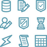 Blue line database contour icons V2 poster