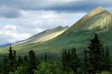 Mountains of Wrangell- St. Elias National park in Alaska poster