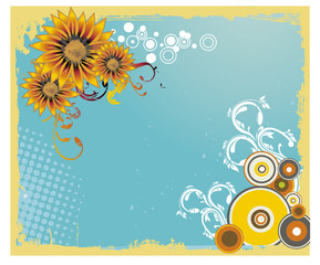 girasoles en vector