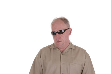 Old Guy in Wrap Around Sunglasses