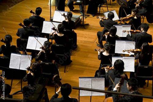 Leinwanddruck Bild Symphony concert