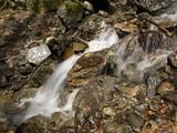 Cascade et torrent de printemps de la fonte des neiges poster