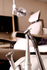 Dentist tools and chair