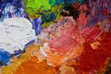 peinture artiste couleur mélange nuance palette poster
