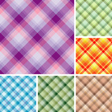 Collection of plaids. Seamless pattern poster