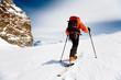 Leinwandbild Motiv ski climber