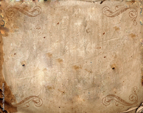 canvas print picture Vintage background - old paper