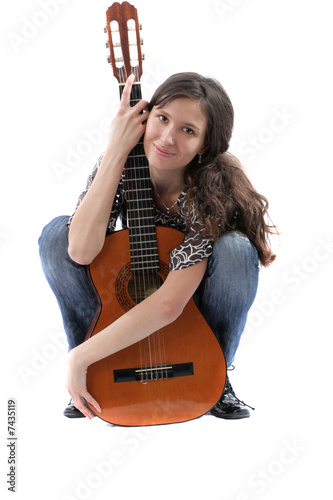 The girl with a guitar
