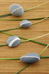 spa item on a bamboo mat