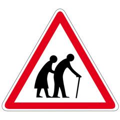 Achtung Großeltern - Schild