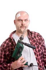 Frustrated handyman