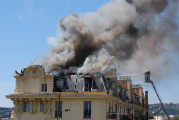 incendie d'un appartement