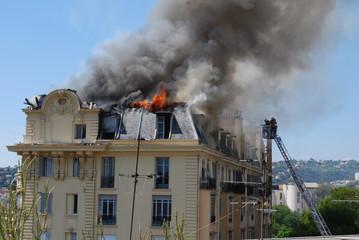 incendie dans un appartement