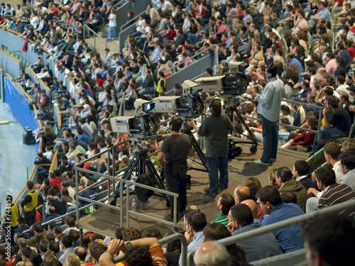 Cameras at a sport event