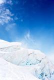 High mountain glacier poster