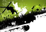Fototapety Ski freestyle abstract background