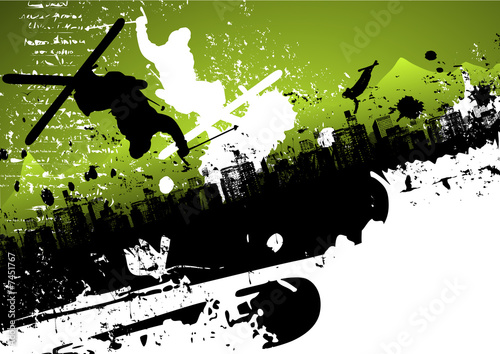 Ski freestyle abstract background
