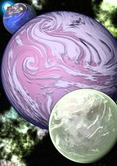 Alien Solar System Illustration