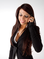 Beautiful girl speaking to mobile phone