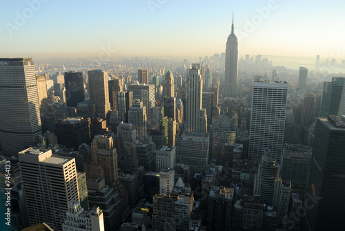 Aerial view over Midtown of Manhattan, New York City © philipus