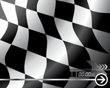 Vector Checkered flag - Easy change colors poster