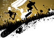 Skateboard abstract city background