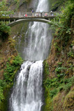 Multnomah falls, Columbia River Gorge National Scenic Area, USA poster
