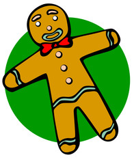 colorful gingerbread man