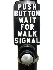 push button wait for walk signal