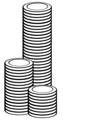 money coin tower