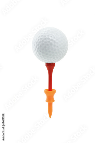 Golf ball on tees