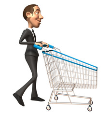 Businessman fait du shopping