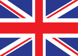 Illustrated version of the british flag ideal for a background poster