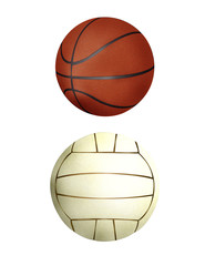 Ball collection - handball & basketball
