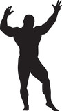 sport illustration. vector silhouette of bodybuilder poster