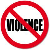No Violence sign poster
