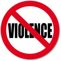 No Violence sign