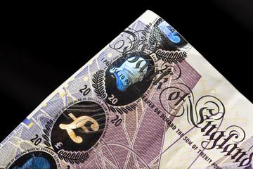 Twenty pound note detail