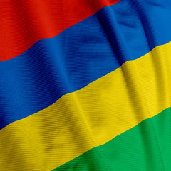 Mauritian Flag Closeup