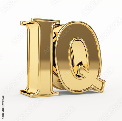 Golden 3d  letters I and Q