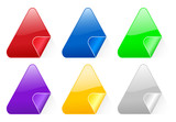 triangular color stickers 2 poster