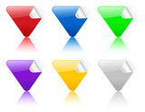 color triangular stickers poster