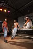Three hip-hop dancers poster