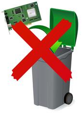 Ne pas jeter l'électronique à la poubelle