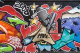 Fototapete Grossstadtherbst - Colorful - Graffiti