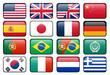 canvas print picture - Web Language Icon Set 1