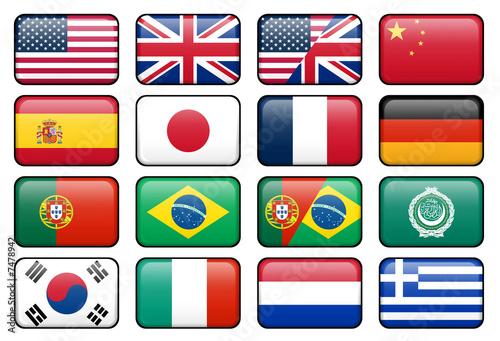 canvas print picture Web Language Icon Set 1