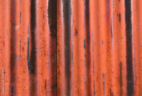 Rusted metal texture with border