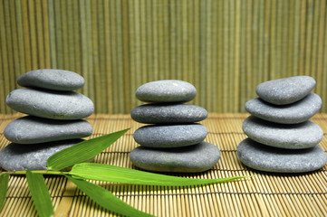 spa item and bamboo leaf