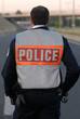 police secours gilet reflechissant